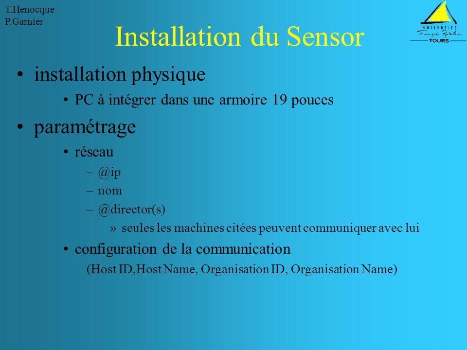 Installation du Sensor