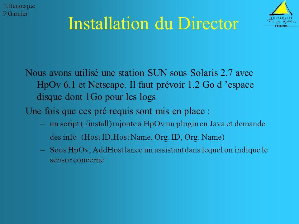 Installation du Director