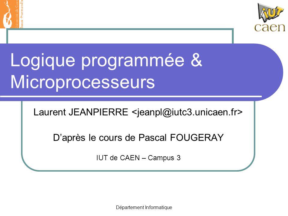 Logique programmée & Microprocesseurs