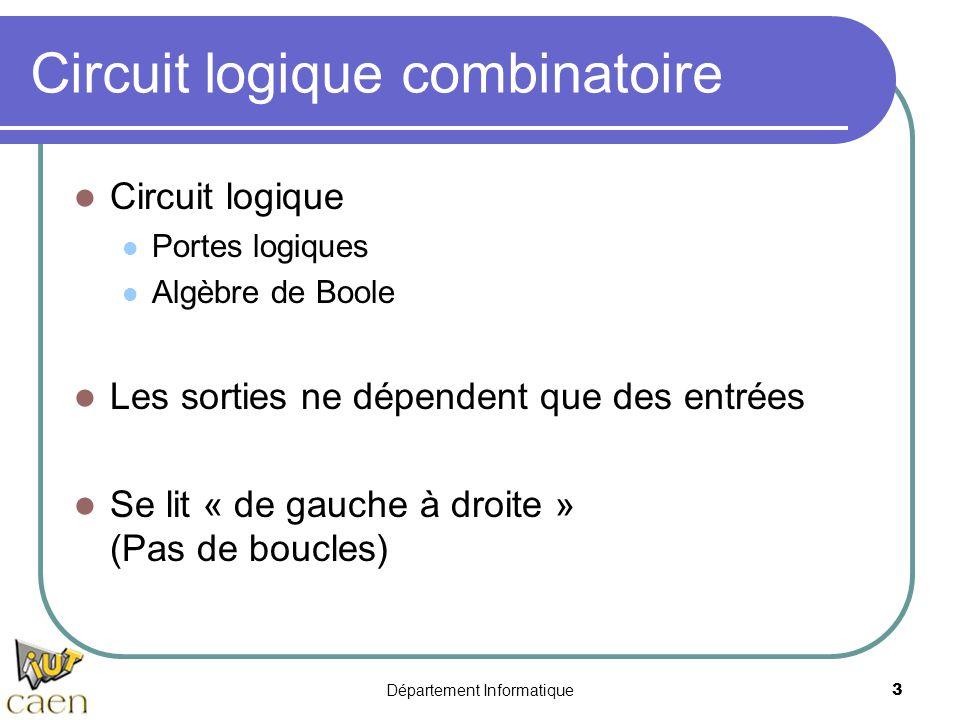 Circuit logique combinatoire