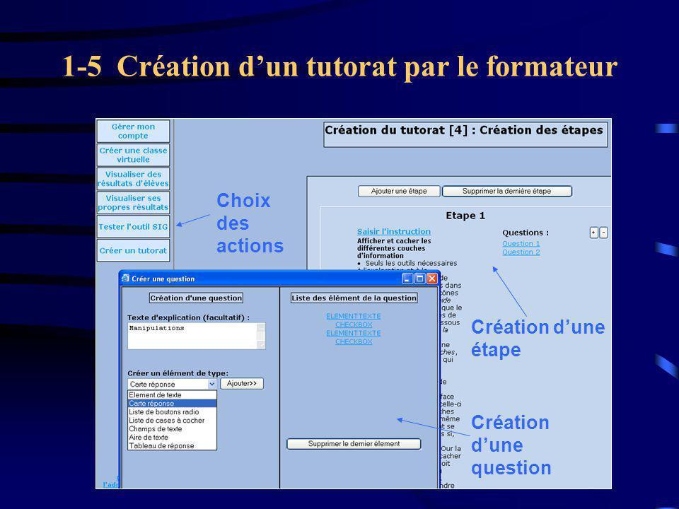 1-5 Création d'un tutorat par le formateur