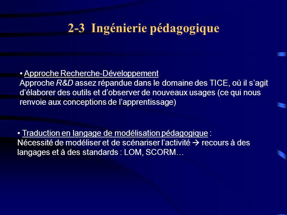 2-3 Ingénierie pédagogique
