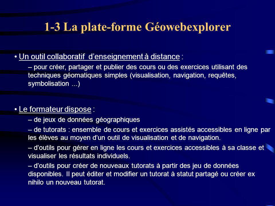 1-3 La plate-forme Géowebexplorer