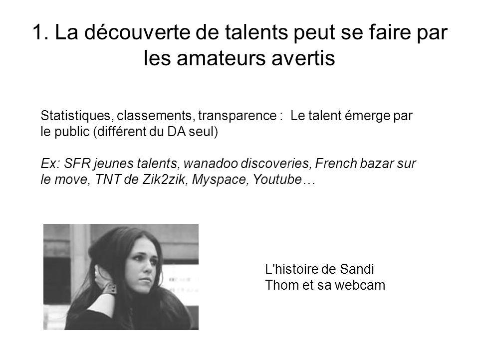 1. La découverte de talents peut se faire par les amateurs avertis