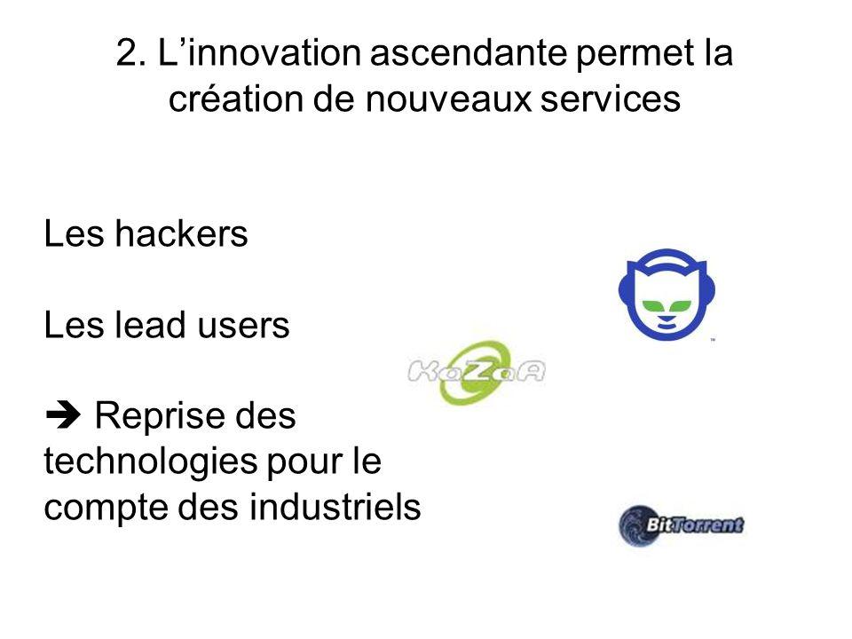 2. L'innovation ascendante permet la création de nouveaux services