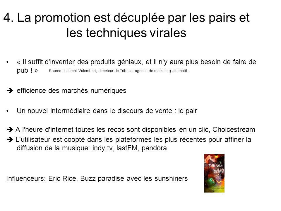 4. La promotion est décuplée par les pairs et les techniques virales