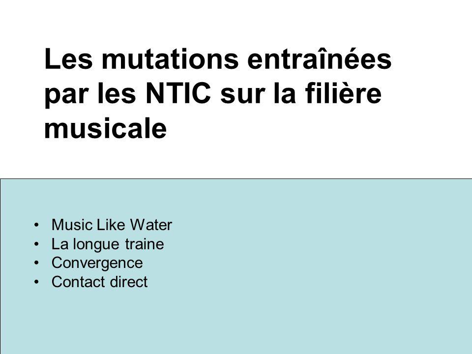 Les mutations entraînées par les NTIC sur la filière musicale