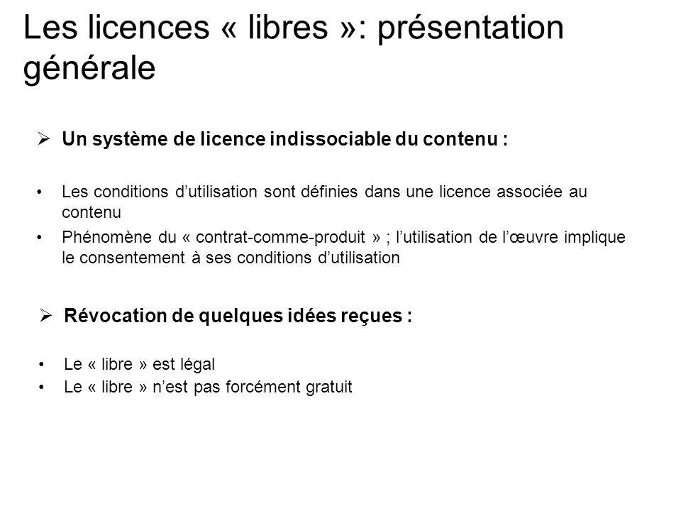 Les licences « libres »: présentation générale