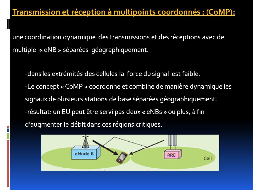 Transmission et réception à multipoints coordonnés : (CoMP):