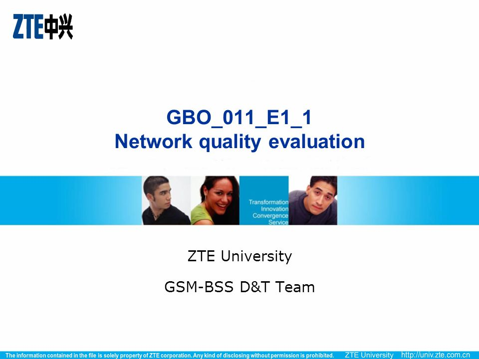 GBO_011_E1_1 Network quality evaluation