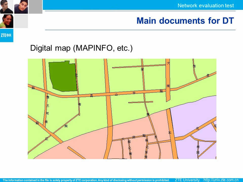 Main documents for DT Digital map (MAPINFO, etc.)