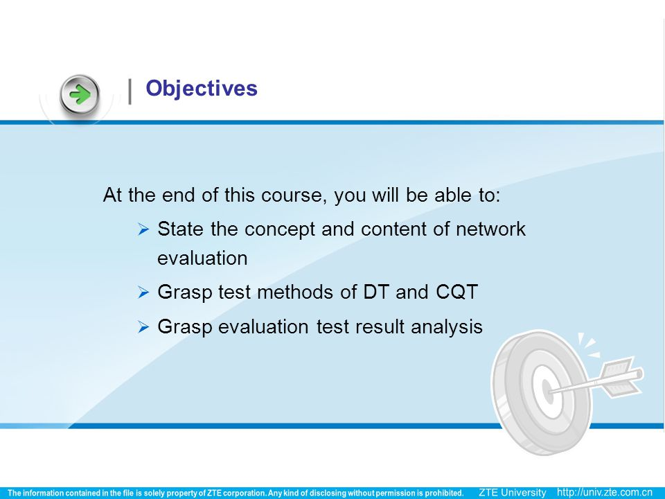 Objectives At the end of this course, you will be able to: