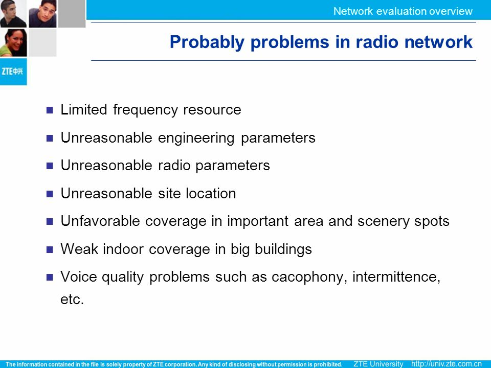 Probably problems in radio network