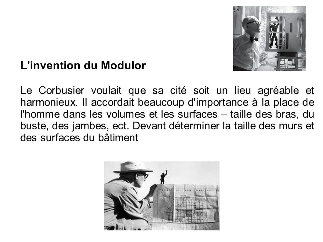 L invention du Modulor