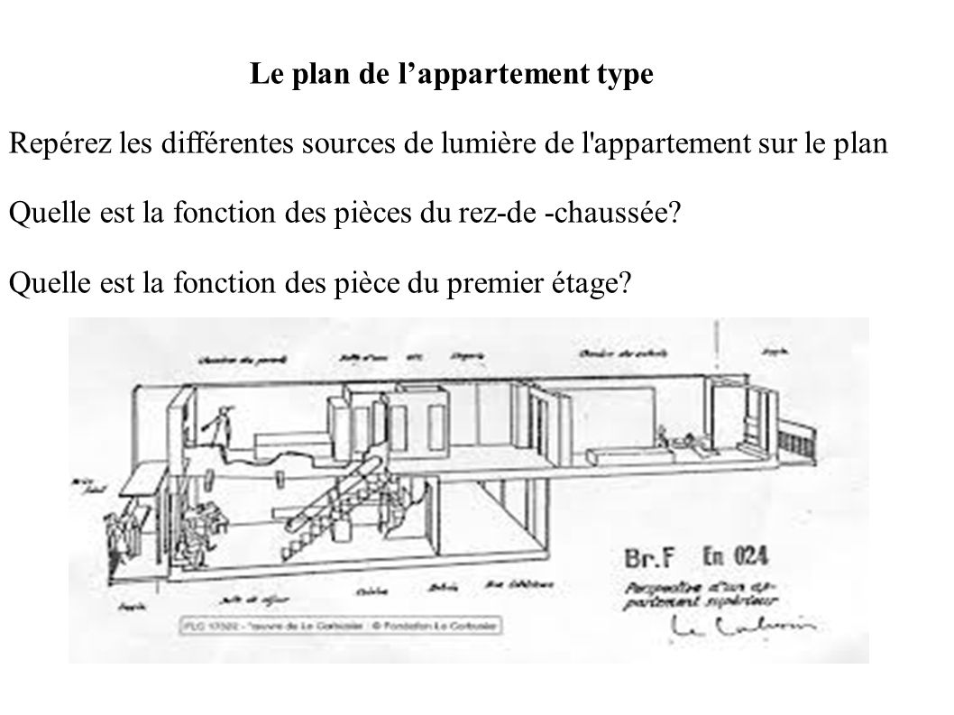 Le plan de l'appartement type
