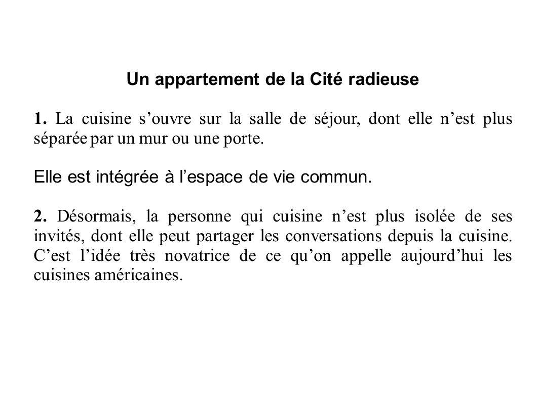 Un appartement de la Cité radieuse