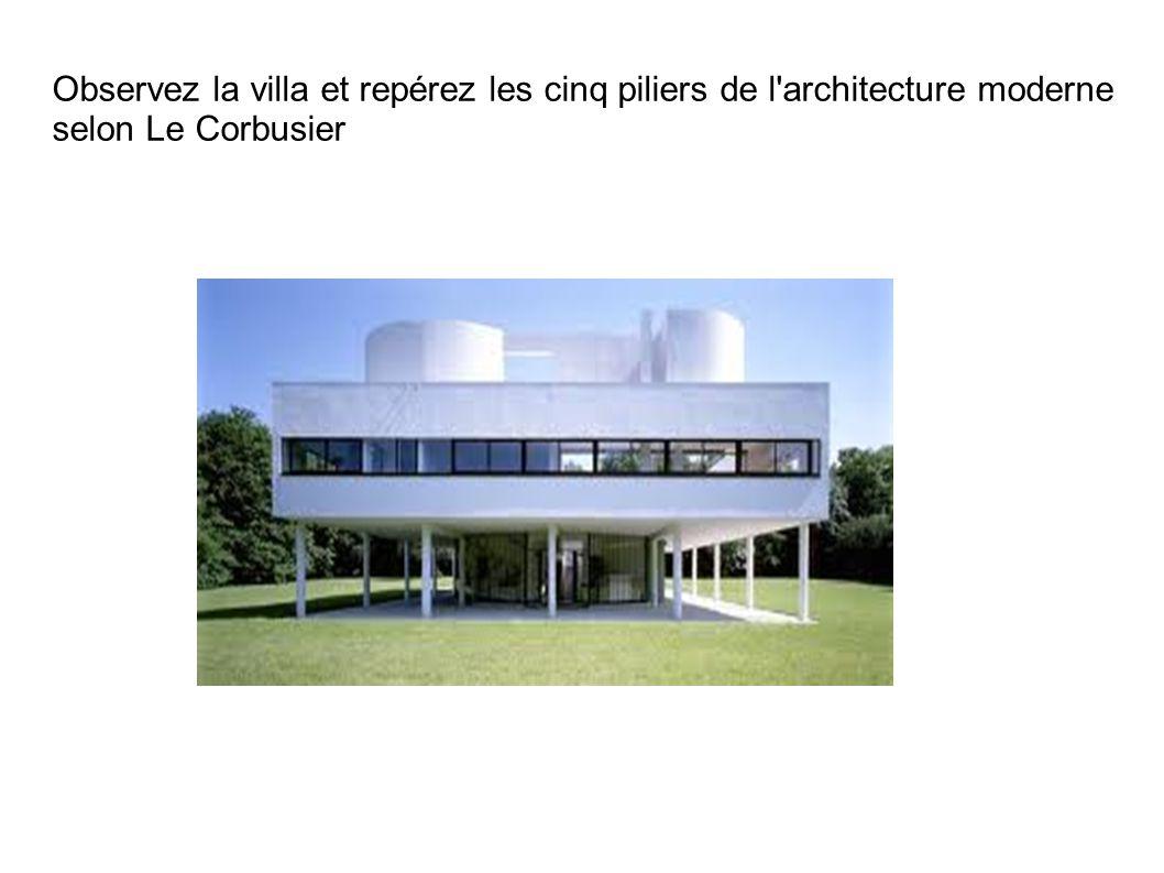 Observez la villa et repérez les cinq piliers de l architecture moderne selon Le Corbusier