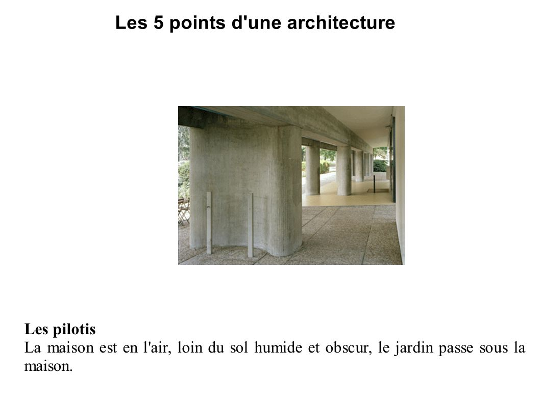 Les 5 points d une architecture