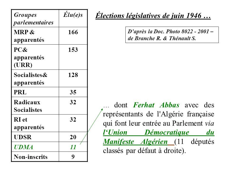 Élections législatives de juin 1946 …