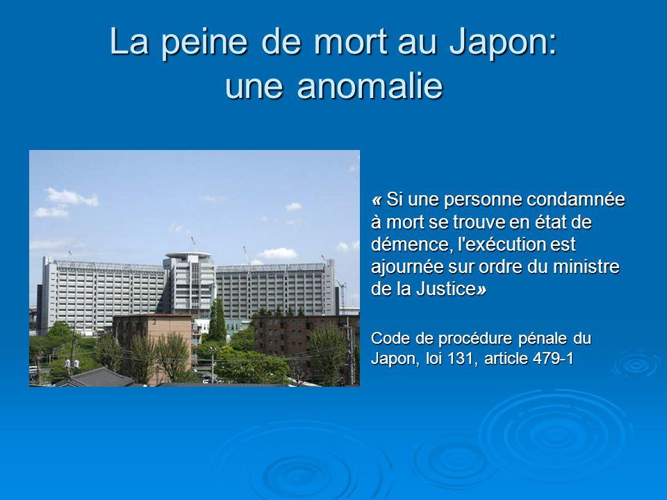 La peine de mort au Japon: une anomalie