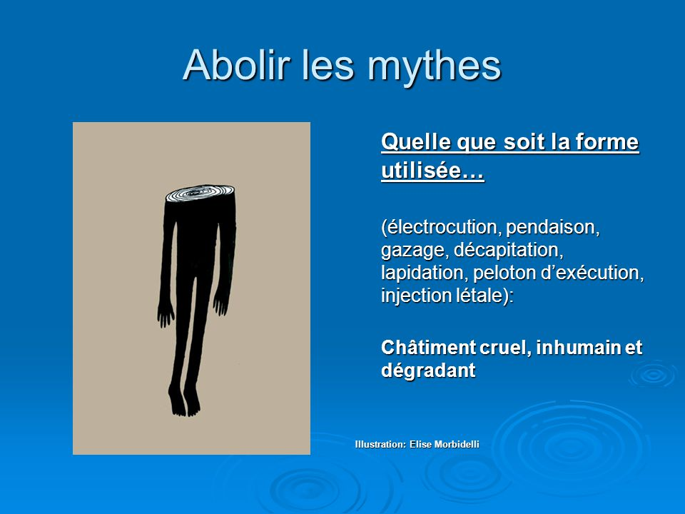 Abolir les mythes Quelle que soit la forme utilisée…