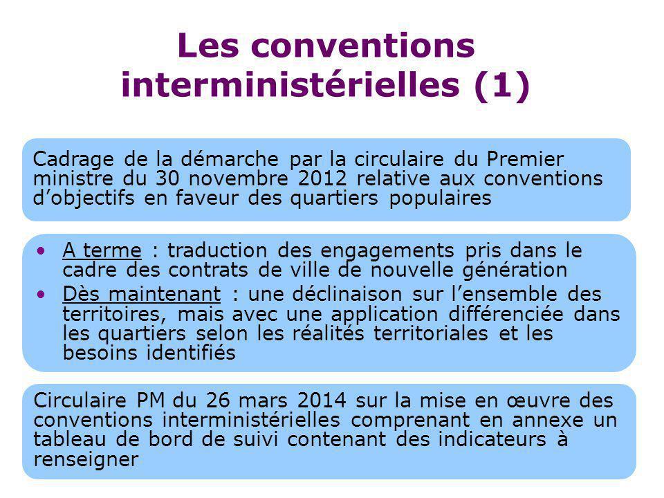 Les conventions interministérielles (1)