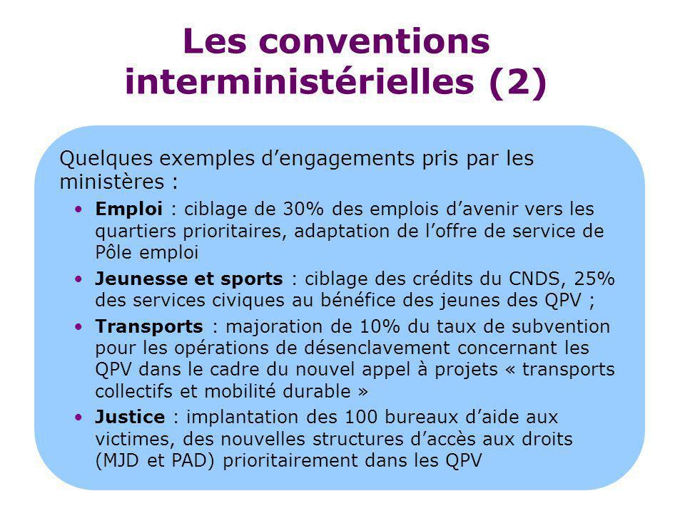 Les conventions interministérielles (2)
