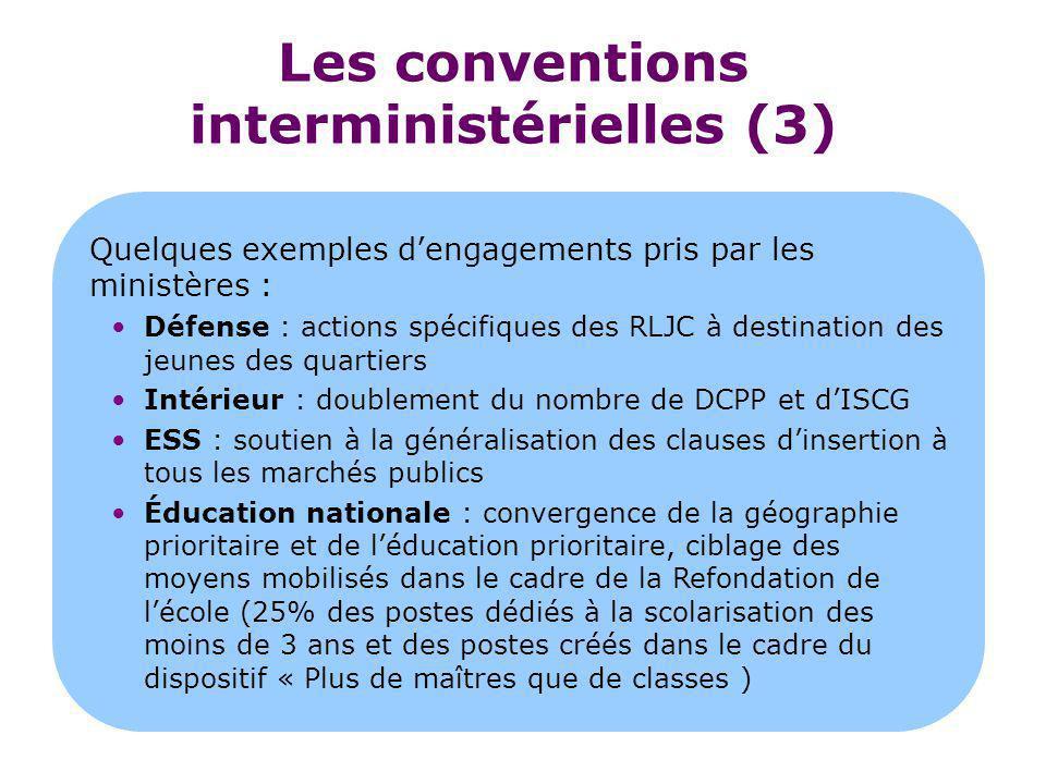 Les conventions interministérielles (3)