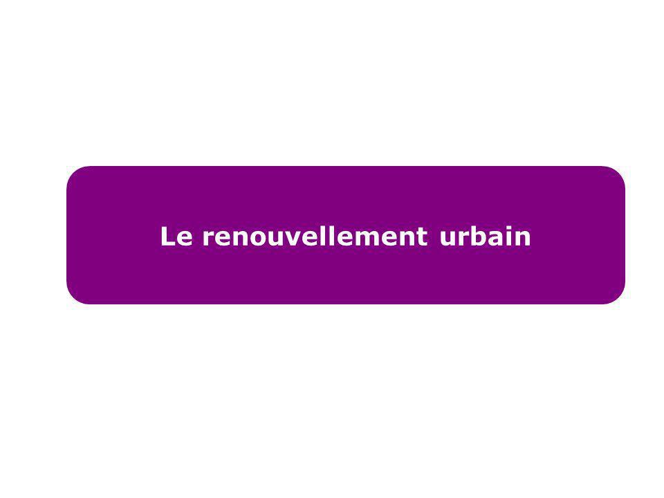 Le renouvellement urbain