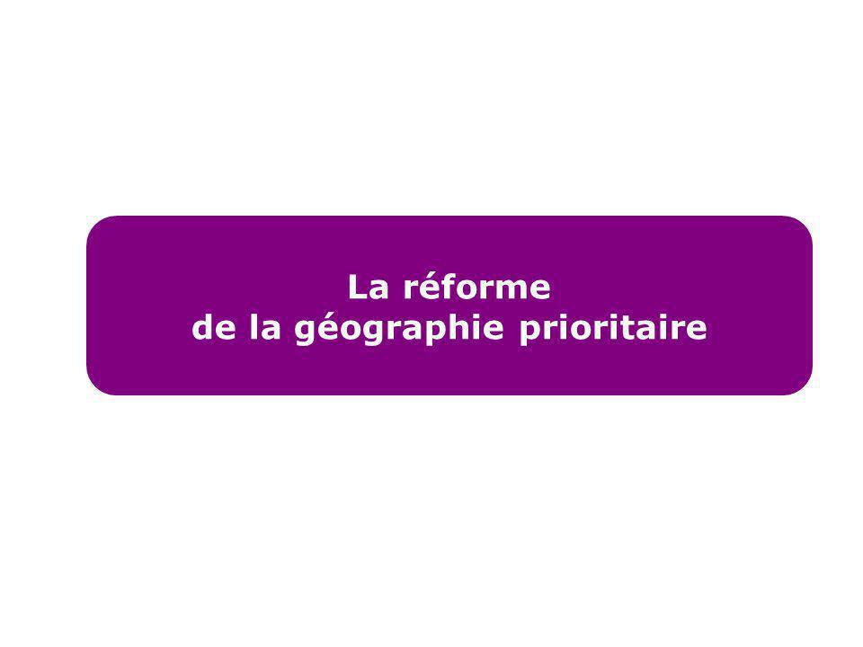 de la géographie prioritaire