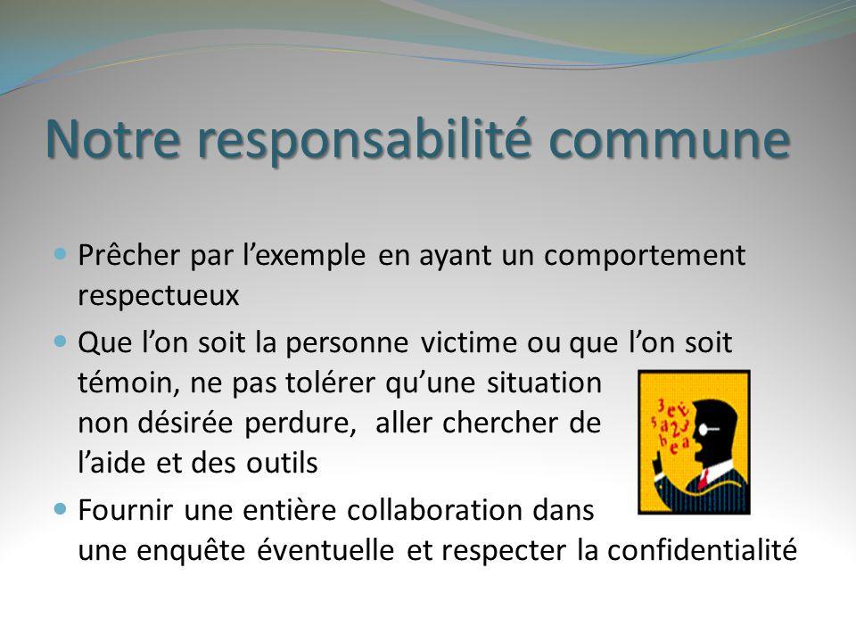 Notre responsabilité commune