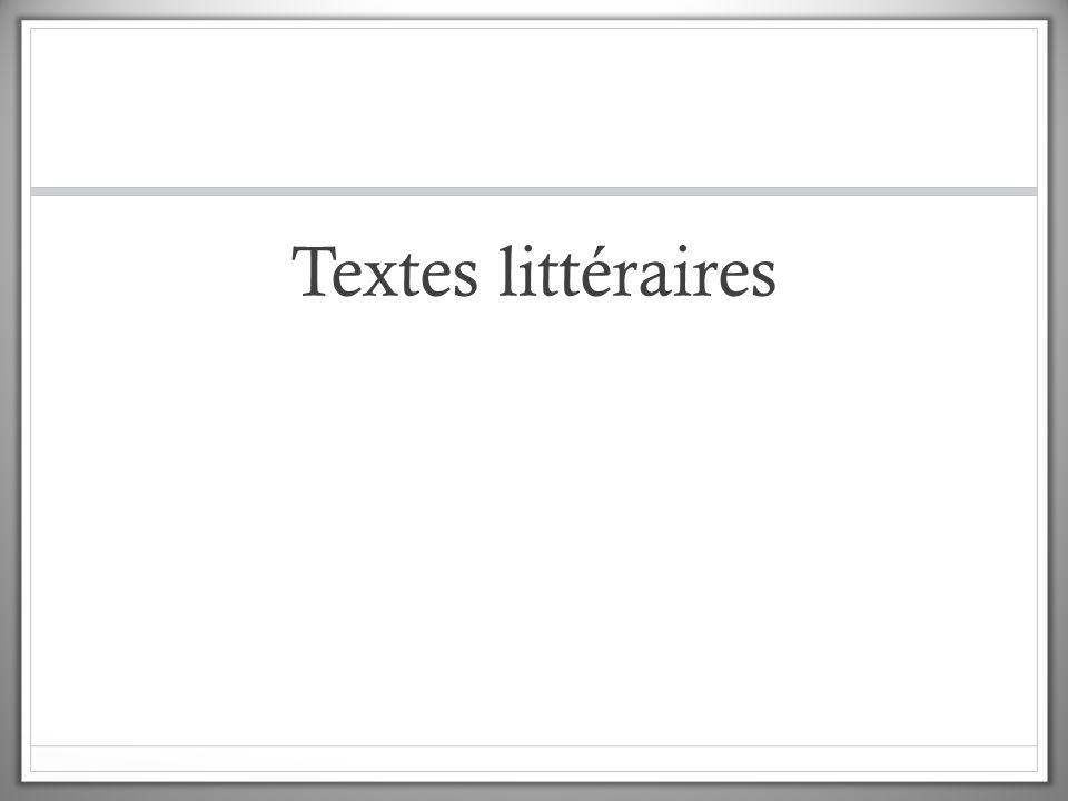 Textes littéraires