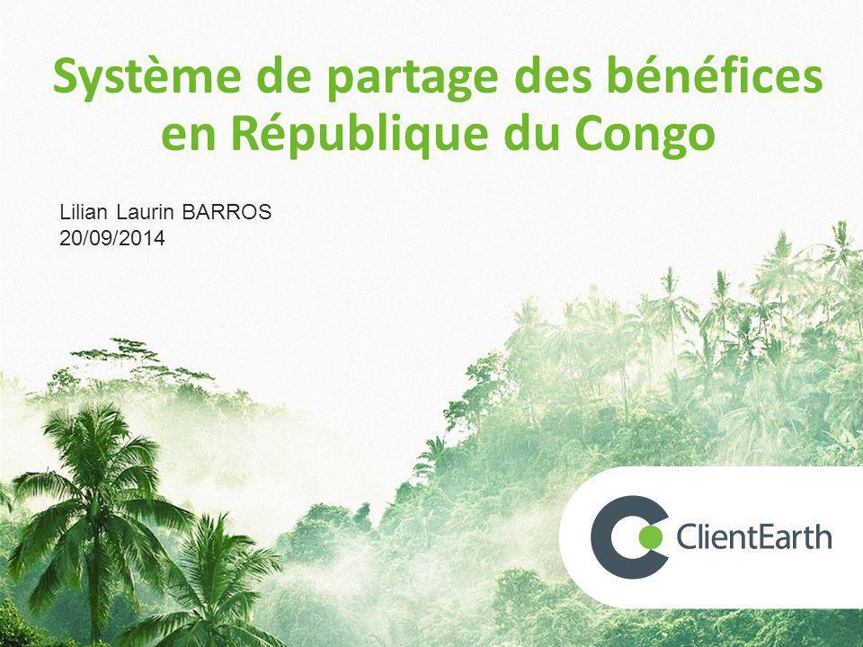 Système de partage des bénéfices en République du Congo