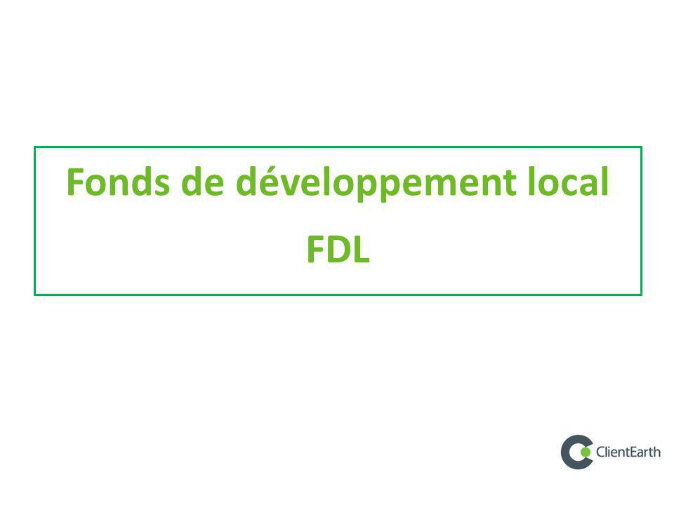 Fonds de développement local
