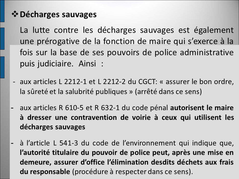 Décharges sauvages