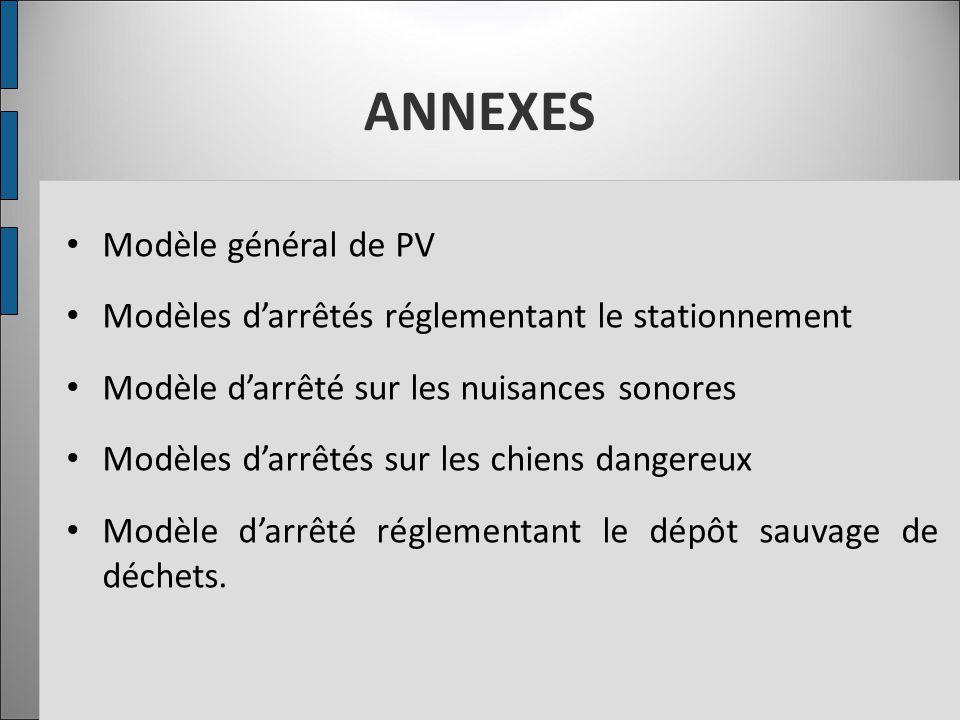 ANNEXES Modèle général de PV