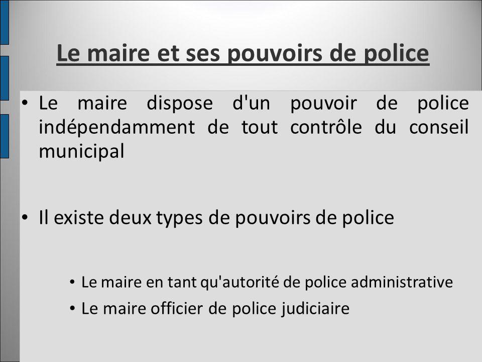 Le maire et ses pouvoirs de police