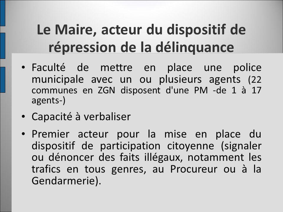 Le Maire, acteur du dispositif de répression de la délinquance