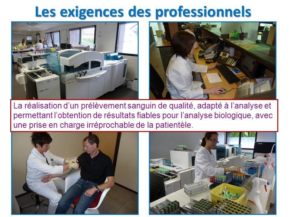 Les exigences des professionnels