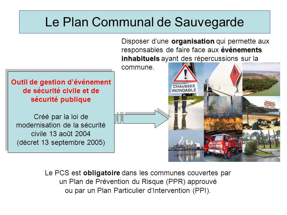 Le Plan Communal de Sauvegarde