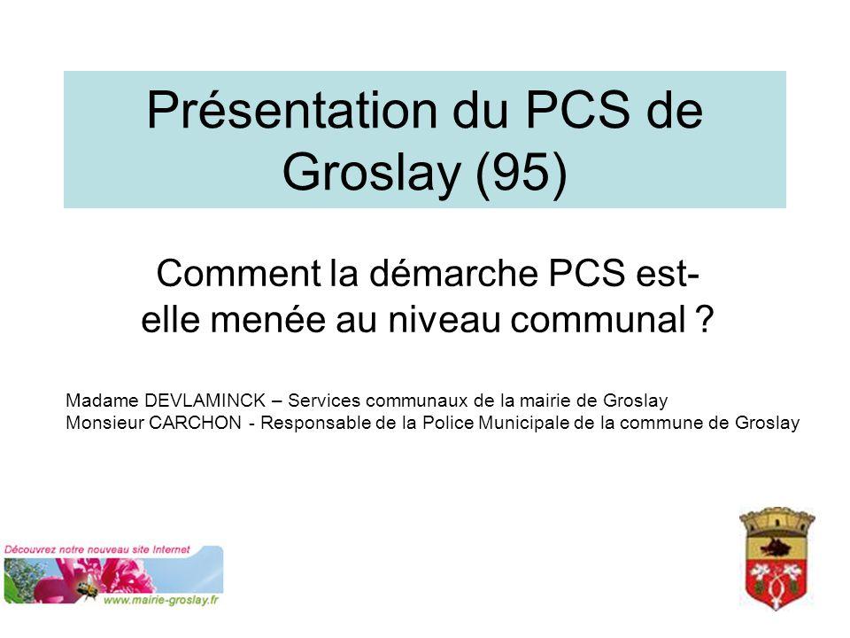 Présentation du PCS de Groslay (95)