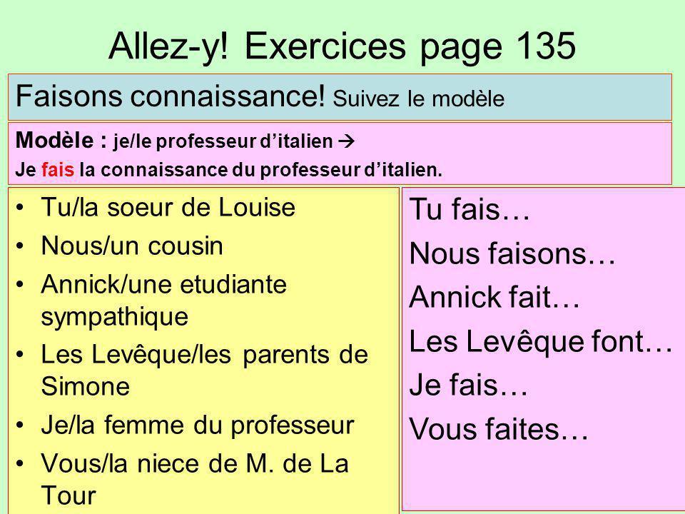 Allez-y! Exercices page 135