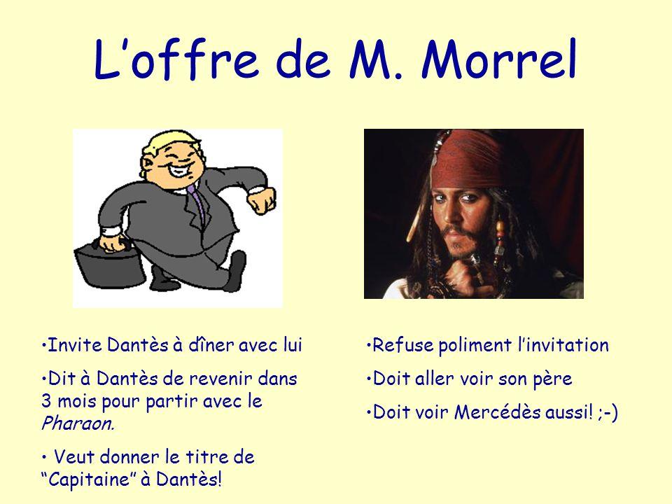 L'offre de M. Morrel Invite Dantès à dîner avec lui