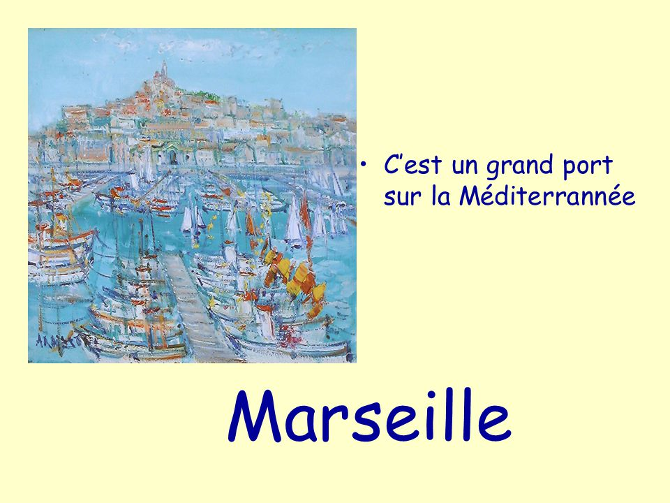 C'est un grand port sur la Méditerrannée
