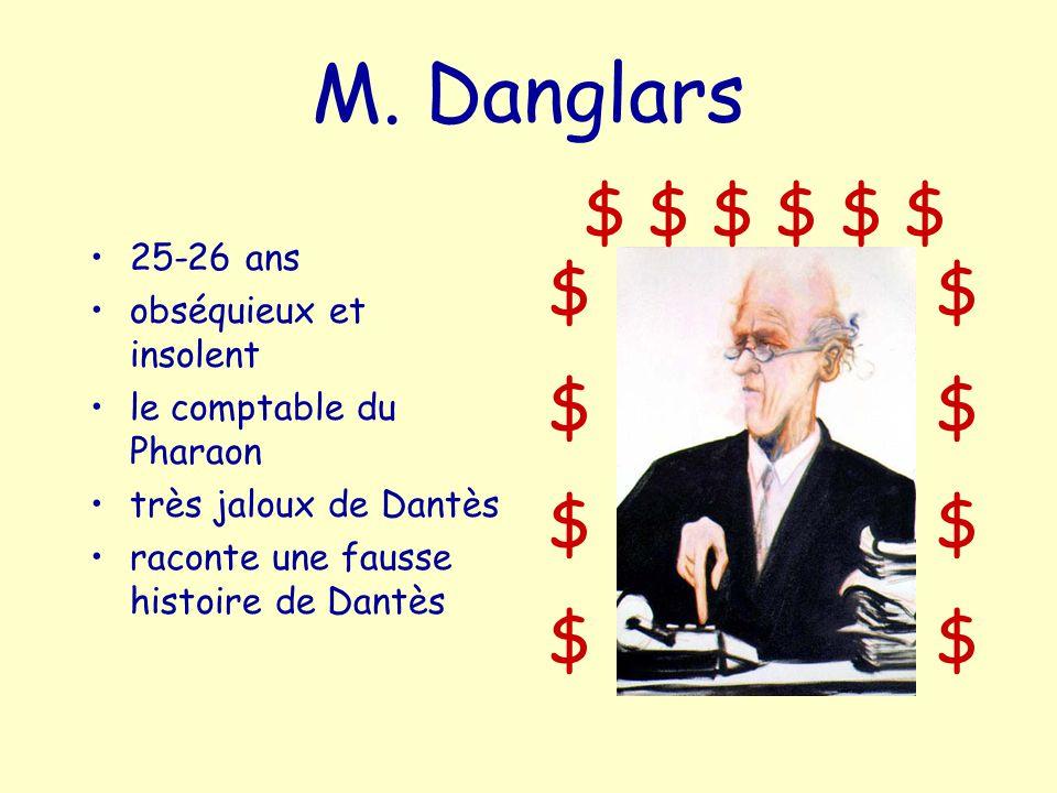 M. Danglars $ $ $ $ $ $ $ $ 25-26 ans obséquieux et insolent