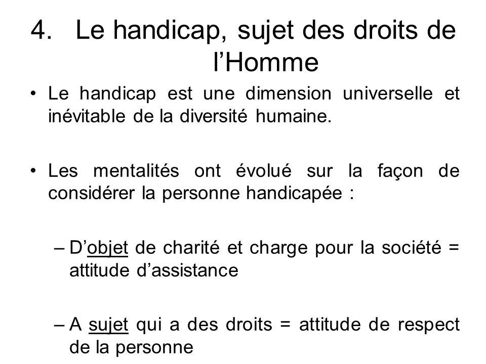 Le handicap, sujet des droits de l'Homme