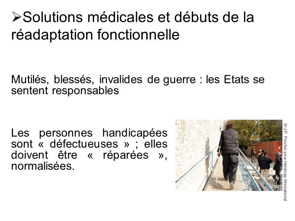 Solutions médicales et débuts de la réadaptation fonctionnelle