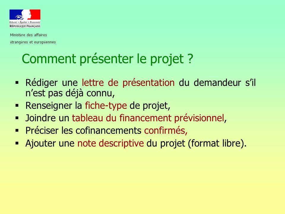 Comment présenter le projet