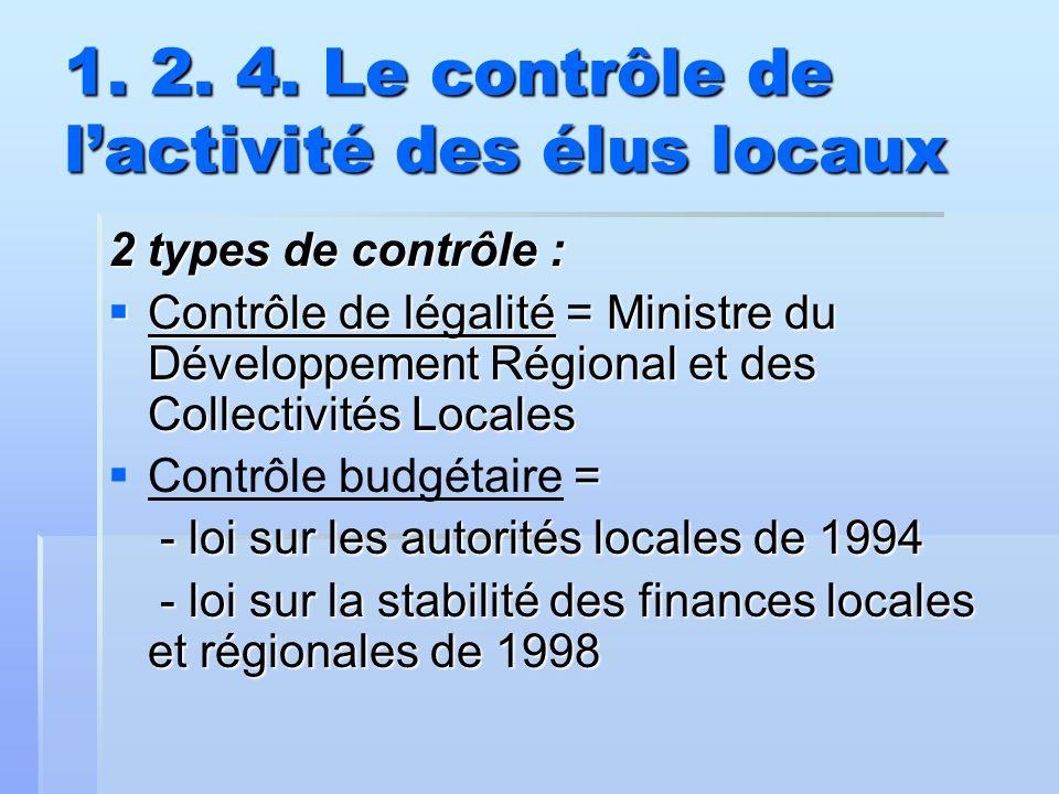 1. 2. 4. Le contrôle de l'activité des élus locaux