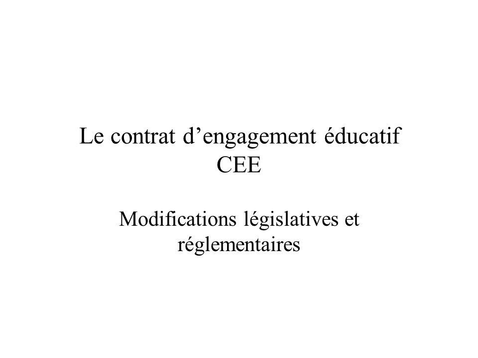 Le contrat d'engagement éducatif CEE